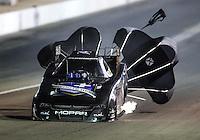 Oct 29, 2016; Las Vegas, NV, USA; NHRA funny car driver Jack Beckman during qualifying for the Toyota Nationals at The Strip at Las Vegas Motor Speedway. Mandatory Credit: Mark J. Rebilas-USA TODAY Sports