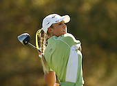 March 26, 2005; Rancho Mirage, CA, USA;  Natalie Gulbis tees off during the third round of the LPGA Kraft Nabisco golf tournament held at Mission Hills Country Club.  <br />