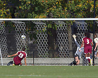 Florida State forward/defender Toni Pressley (23) scores on penalty kick. Florida State University defeated Boston College, 1-0, at Newton Soccer Field, Newton, MA on October 31, 2010.