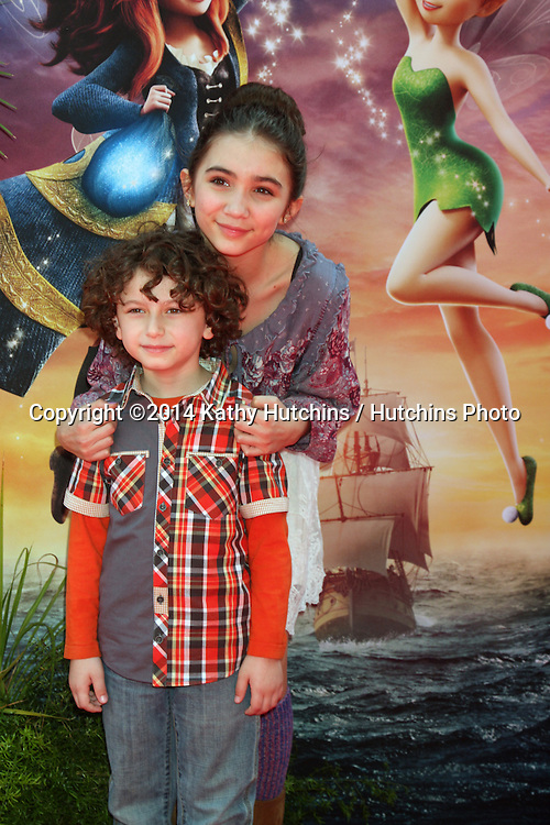 LOS ANGELES - MAR 22:  August Maturo, Rowan Blanchard at the Pirate Fairy Movie Premiere at Walt Disney Studios Lot on March 22, 2014 in Burbank, CA