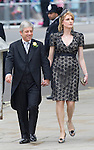 Mcc0031197 . Daily Telegraph..Fixed Point..John and Sally bercow arriving at Westminster Abbey...The Royal Wedding of Prince William and Kate Middleton..London 29 April 2011