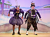 Jack and the Beanstalk <br /> by Susie McKenna with music by Steven Edis <br /> at the Hackney Empire, London, Great Britain <br /> press photocall <br /> 25th November 2015  <br /> <br /> <br /> Jocelyn Jee Esien as Stomach Bug<br /> <br /> Tony Timberlake  as Nasty Bug<br /> <br /> <br /> <br /> Photograph by Elliott Franks <br /> Image licensed to Elliott Franks Photography Services