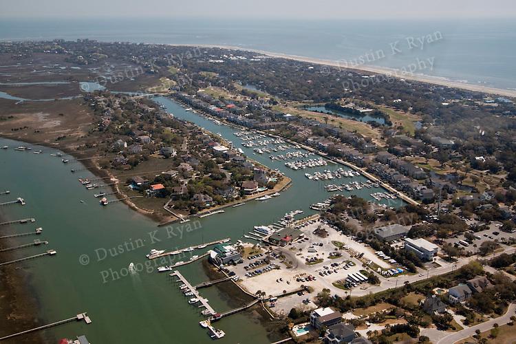 island of palms marina aerial photography south carolina