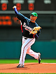 17 March 2009: Atlanta Braves' pitcher Jair Jurrjens on the mound during a Spring Training game against the New York Mets at Disney's Wide World of Sports in Orlando, Florida. The Braves defeated the Mets 5-1 in the Saint Patrick's Day Grapefruit League matchup. Mandatory Photo Credit: Ed Wolfstein Photo