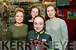 Ballydonoghue Community Games Awards Night: Pictured at the Ballydonoghue Community games awards held at he Thatch Bar on Sunday evening last were Marie O'Neill, Aoife O'Neill, Iseult Long & Niamh Cullen.