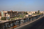 Concrete blast walls encircle the Saydiyah neighborhood of Southwest Baghdad, Iraq August 23, 2010. Originally put in place in 2007, the controversial blast walls have proven an effective means to help end sectarian violence by limiting access to neighborhoods thru a few controlled security checkpoints.   .Slug: Iraq