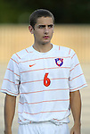 14 September 2012: Clemson's Paul Clowes (ENG). The Duke University Blue Devils defeated the Clemson University Tigers 2-0 at Koskinen Stadium in Durham, North Carolina in a 2012 NCAA Division I Men's Soccer game.