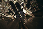 Shadow of the Twin Towers as seen from the top of the North Tower, March 1974...1974 © Peter KAPLAN / CONTACT Press Images