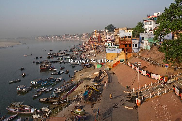 An overview of the ancient city of Varanasi in Uttar Pradesh, India. Photograph: Sanjit Das/Panos