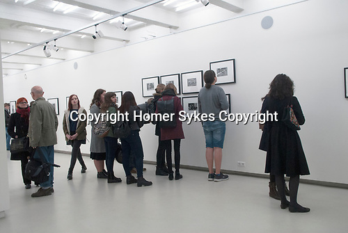 "Kaunas Photography Gallery, Kaunas, Lithuania. April 2017.  Opening night of ""England 1970-1980""."