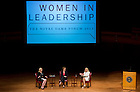 """SSept.16, 2013; Moderator Anne Thompson, of NBC News, Honorable Michele Flournoy and General Ann Dunwoody (right) speak on the topic """"Getting to the Top at the Pentagon,"""" part of the 2013-14 Notre Dame Forum: """"Women in Leadership"""" in Leighton Concert Hall at DeBartolo Performing Arts Center. Photo by Barbara Johnston/University of Notre Dame"""