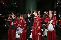 18 March 2006: Jillian Harmon, Rosalyn Gold-Onwude, Shelley Nweke, Brooke Smith, and Christy Titchenal during Stanford's 72-45 win over Southeast Missouri State in the first round of the NCAA Women's Basketball championships at the Pepsi Center in Denver, CO.