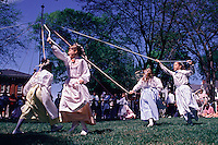 Delaware, Dover, 'Old Dover Days' , girls maypole dancing
