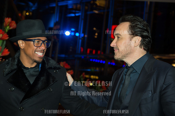 Nick Cannon &amp; John Cusack at the gala premiere for &quot;Chi-Raq&quot; at the 66th Berlinale International Film Festival Berlin at Grand Hyatt Hotel on February 16, 2016 in Berlin<br /> February 16, 2016  <br /> Picture: Kristina Afanasyeva / Featureflash