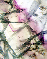 FLUORITE<br /> Slab from China<br /> CaF2; shows inclusions &amp; all colors of fluorite in one piece