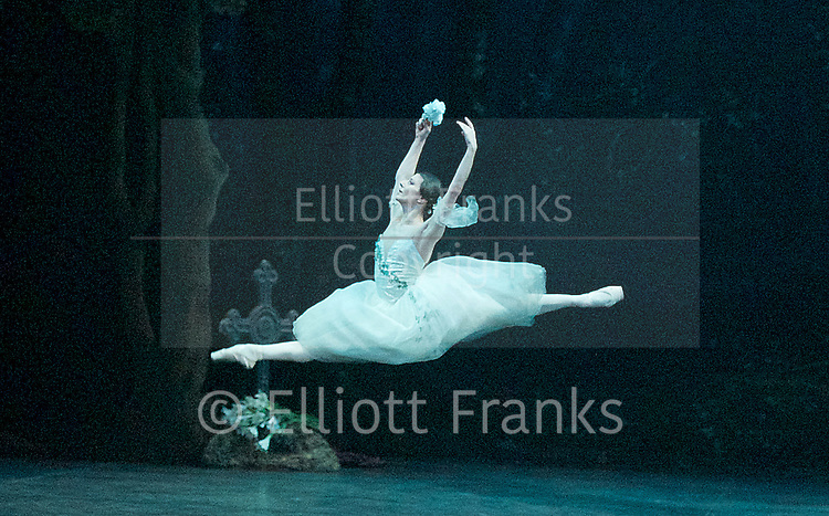 Giselle <br /> English National Ballet at The London Coliseum, London, Great Britain <br /> rehearsal <br /> 10th January 2017 <br /> <br /> Alina Cojocaru as Giselle <br /> <br /> <br /> <br /> Photograph by Elliott Franks <br /> Image licensed to Elliott Franks Photography Services