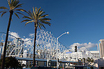 The Cyclone Pedestrian Bridge at the Pike at Rainbow Harbor in Long Beach, CA