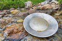 Gold Panning in a stream in Hatcher Pass, Alaska