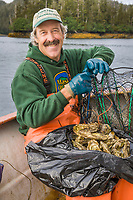 Oyster Dave, Oyster farmer in northern Prince William Sound, Alaska.