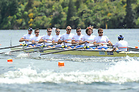 Hamilton, NEW ZEALAND.  GBR M8+, Bow, [left] Tom BROADWAY, James CLARKE, Cameron NICHOL, James FOAD, Mohamed SBIHI Greg SEARLE, Tom RANSLEY, Dan RICHIE and cox Phelan HILL start Men's eights Heats  2010 World Rowing Championships on Lake Karapiro, Tuesday - 02.11.2010, [Mandatory Credit Peter Spurrier:Intersport Images].