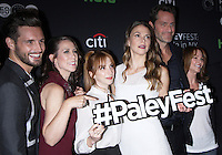 NEW YORK, NY - OCTOBER 10: Nico Tortorella, Miriam Shor, Molly Bernard, Sutton Foster, Peter Hermann and Dottie Zicklin at PaleyFest New York's presentation of Younger at the Paley Center for Media in New York City on October 10, 2016. Credit: RW/MediaPunch