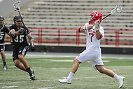 College Park, MD - May 14, 2017: Maryland Terrapins Tim Rotanz (7) attempts a shot during the NCAA first round game between Bryant and Maryland at  Capital One Field at Maryland Stadium in College Park, MD.  (Photo by Elliott Brown/Media Images International)