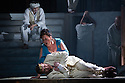 London, UK. 30.04.2014. English National Opera gives the world premiere of British composer Julian Anderson's first opera, THEBANS. Picture shows: Susan Bickley (Jocasta) and Roland Wood (Oedipus). Photograph © Jane Hobson.