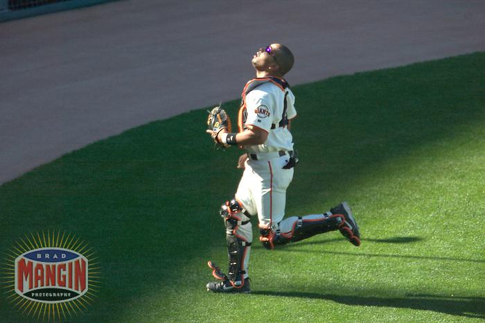 Yorvit Torrealba. Florida Marlins vs San Francisco Giants. San Francisco, CA 5/2/2004 MANDATORY CREDIT: Brad Mangin