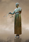 &quot;Charioteer of Delphi&quot; 470 BC. The &quot;Charioteer of Delphi&quot; is one of the best known ancient Greek statues, and one of the best preserved examples of classical bronze casts. It is considered a fine example of the &quot;Severe&quot; style. Delphi Archaeological Museum.