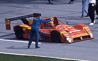 Gianpiero Moretti is greeted on pit road by fellow driver Rob Dyson after winning the 24 Hours of Daytona, Daytona International Speedway, Daytona Beach, FL, February 1, 1998.  (Photo by Brian Cleary/www.bcpix.com)