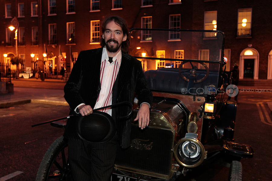 10/11/10 Julian Ronet, grandson of Charlie Chaplin at the launch of the Charlie Chaplin Comedy Film Festival short film competition which takes place on November 10 in Waterville, Co. Kerry. Picture:Arthur Carron/Collins