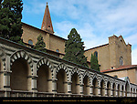 Avelli of Medieval Noble Families with Heraldic Shields Cemetery Wall Santa Maria Novella Florence