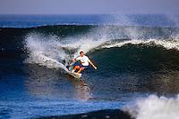 Lacanau Ocean, France. .Shane Dorian (HAW) surfing a heat during the 1993 Lacanau Pro..Photo: joliphotos.com