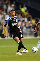 Jason Hernandez (21) defender San Jose Earthquakes in action...Sporting KC defeated San Jose Earthquakes 1-0 at LIVESTRONG Sporting Park, Kansas City ,Kansas,..