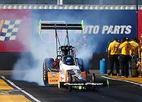 Feb 24, 2017; Chandler, AZ, USA; NHRA top fuel driver Clay Millican during qualifying for the Arizona Nationals at Wild Horse Pass Motorsports Park. Mandatory Credit: Mark J. Rebilas-USA TODAY Sports