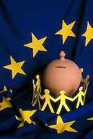 Bandiera europea.European flag....