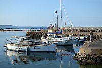 Harbour, Groomsport, Co Down, N Ireland, UK, travel, tourism, 201208100486..Copyright Image from Victor Patterson, 54 Dorchester Park, Belfast, UK, BT9 6RJ..Tel: +44 28 9066 1296.Mob: +44 7802 353836.Voicemail +44 20 8816 7153.Skype: victorpattersonbelfast.Email: victorpatterson@me.com.Email: victorpatterson@ireland.com (back-up)..IMPORTANT: If you wish to use this image or any other of my images please go to www.victorpatterson.com and click on the Terms & Conditions. Then contact me by email or phone with the reference number(s) of the image(s) concerned.