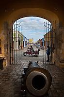La Puerta de Tierra, the land door, part of the fortified wall of the city of Campeche a UNESCO World Heritage site, Campeche,  Mexico