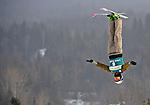 16 January 2009: Dmitri Dashinski from Belarus performs aerial acrobatics during the FIS Freestyle World Cup warm-ups at the Olympic Ski Jumping Facility in Lake Placid, NY, USA. Mandatory Photo Credit: Ed Wolfstein Photo. Contact: Ed Wolfstein, Burlington, Vermont, USA. Telephone 802-864-8334. e-mail: ed@wolfstein.net