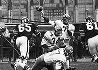 Don Jonas Winnipeg Blue Bombers quarterback 1972 in a game against the Ottawa Rough Riders. Copyright photograph Scott Grant/