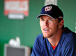 10 July 2008: Washington Nationals starting pitcher Collin Balester, looks out from the dugout prior to a game against the Arizona Diamondbacks at Nationals Park in Washington, DC. The Diamondbacks defeated the Nationals 7-5 in 11 innings to take the rubber match of their 3-game series in the Nation's Capitol...Mandatory Photo Credit: Ed Wolfstein Photo
