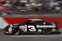 ROCKINGHAM, NC - MARCH 1: Dale Earnhardt drives during the GM Goodwrench 500 on March 1, 1992, at the North Carolina Motor Speedway near Rockingham, North Carolina.