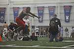 Mississippi football player at Pro Day in the IPF in Oxford, Miss. on Tuesday, March 22, 2011.