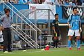 (L to R) Yasutoshi Miura (Giravanz), Kazuyoshi Miura (Yokohama FC), JULY 24, 2011 - Football : 2011 J.LEAGUE Division 2 between Yokohama FC 1-2 Giravanz Kitakyushu at NHK Spring Mitsuzawa Football Stadium, Kanagawa, Japan. (Photo by YUTAKA/AFLO SPORT) [1040]
