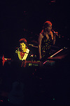 Paul and Linda McCartney Wings Tour 1975.Paul and Linda on stage Liverpool, England.