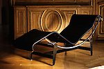 "Chaise lounge, Charlotte Perriand - Le Corbusier - Pierre Jeanneret, ""Chaise longue a reglage continu"" - circa 1940 - Edition Wohnbedarf. Swiss design furniture's sale at the Artcurial Gallery. Paris, France. 4/24/2009. Photo: Antoine Doyen"
