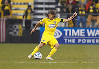 24 APRIL2010:  Frankie Hejduk of the Columbus Crew(2) during the Real Salt Lake at Columbus Crew MLS soccer game in Columbus, Ohio. Columbus Crew defeated RSL 1-0 on April 24, 2010.