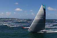 FRANCE, Lorient. 1st July 2012. Volvo Ocean Race, Start Leg 9 Lorient-Galway. Team Telefonica.