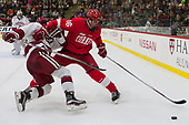 Viktor Dombrovskiy (Harvard - 27), Matt Buckles (Cornell - 16) - The Harvard University Crimson defeated the visiting Cornell University Big Red on Saturday, November 5, 2016, at the Bright-Landry Hockey Center in Boston, Massachusetts.
