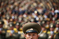 North Korean soldiers and officers attend a military parade marking the 105th birth anniversary of country's founding father, Kim Il Sung in Pyongyang, North Korea April 15, 2017.    REUTERS/Damir Sagolj
